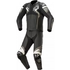 Atem V4 Leather Suit 2 Pc - Black Gray Wht