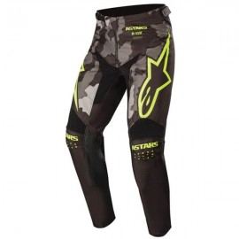 Alpinestars Youth Racer Tactical Pants Black Gray Camo Yellow Fluo - 24
