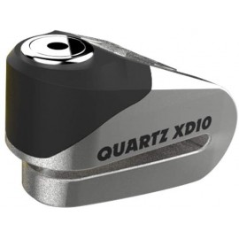 Oxford QUARTZ XD10 DISC LOCK (10MM PIN)BRUSHED STAINLESS EFFECT