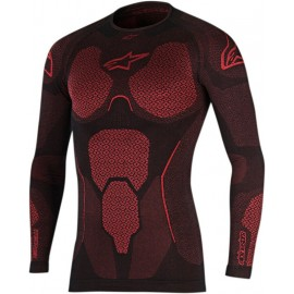 Alpinestars RIDE TECH TOP LONG SLEEVE SUMMER- BLACK RED