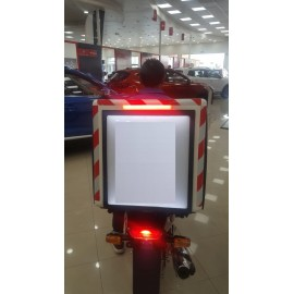 LED Motorcycle Food Delivery Box with Universal Stand