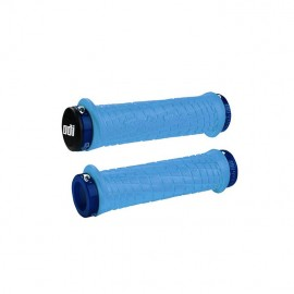 ODI / TROY LEE DESIGNS SIGNATURE SERIES LOCK-ON PWC GRIPS, Blue