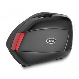 Givi V35 Pair of Side-Cases with Black Embossed and Red Reflectors